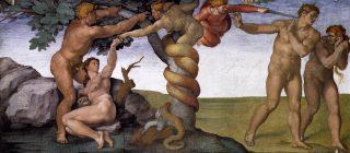 Il Peccato originale e cacciata dal Paradiso terrestre è un affresco di Michelangelo Buonarroti, dipinto attorno all'anno 1510 nella volta della Cappella Sistina, nei Musei Vaticani a Roma,