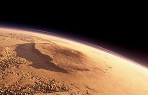 Il Monte Olimpo, il più grande vulcano conosciuto del Sistema Solare.
