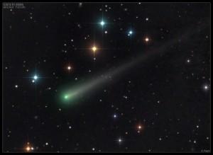 C/2012 S1 (ISON)  fotografata dall'astrofotografo Damian Peach il 27 ottobre 2013. Credit: Damian Peach