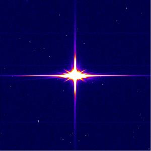 La prima luce di Gaia. α Aquarii. Credit: ESA/Gaia