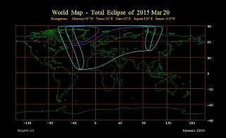 Total  Eclipse  of  2015 Mar 20 - World map