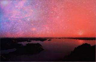 Lo sconvolgente panorama del cielo visto su un pianeta immerso nel nucleo galattico.